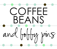coffee beans and bobby pins