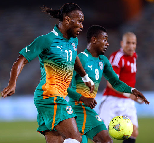 African Nations: Ivory Coast's Didier Drogba and Salomon Kalou