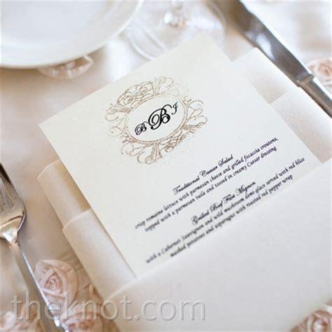 Napkin folding with Menu Card   Wedding Reception Ideas