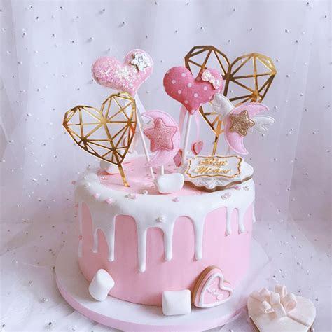 Aliexpress.com : Buy Star Moon Cake Toppers Heart Happy