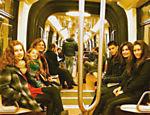 A família no metrô de NY