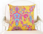 crazy love - decorative throw pillow cover with bow ties - reversible - SassyStitchesbyLori