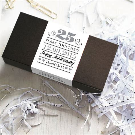 wedding anniversary chocolate bar box set by quirky gift