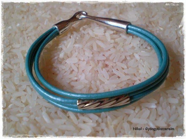 Nikol - GyöngyÉkszereim: Többsoros bőrös karkötő