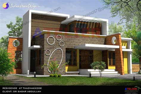 single floor contemporary indian home design   sqft