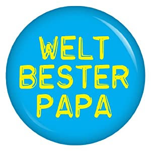 Weltbester Papa Button Ansteckbutton 37mm für die lieben Verwandten