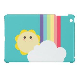 Kawaii Sun & Rainbow {Mini iPad Case} iPad Mini Case