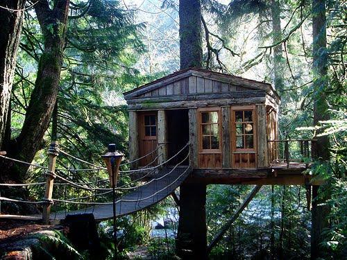 Treehouse, Fall City, Washington.