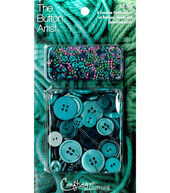 The Button Artist Buttons  and  Beads Teal