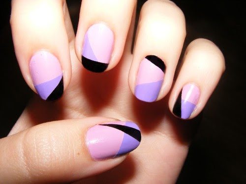 34 Amazing DIY Nail Art Ideas Using Scotch Tape (7)