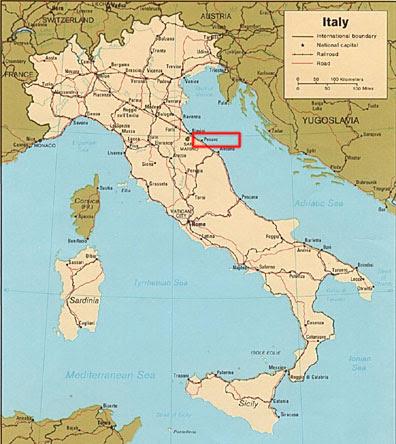 Carte Italie Pesaro.Pesaro Italy Map Campus Map