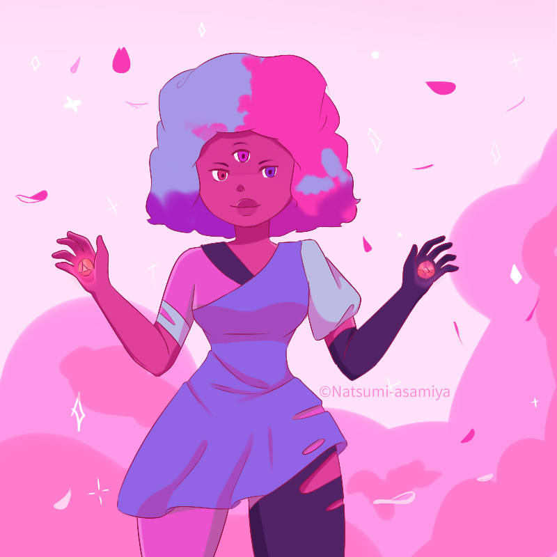 I was watching Steven Universe and wanted to draw Garnet!!!