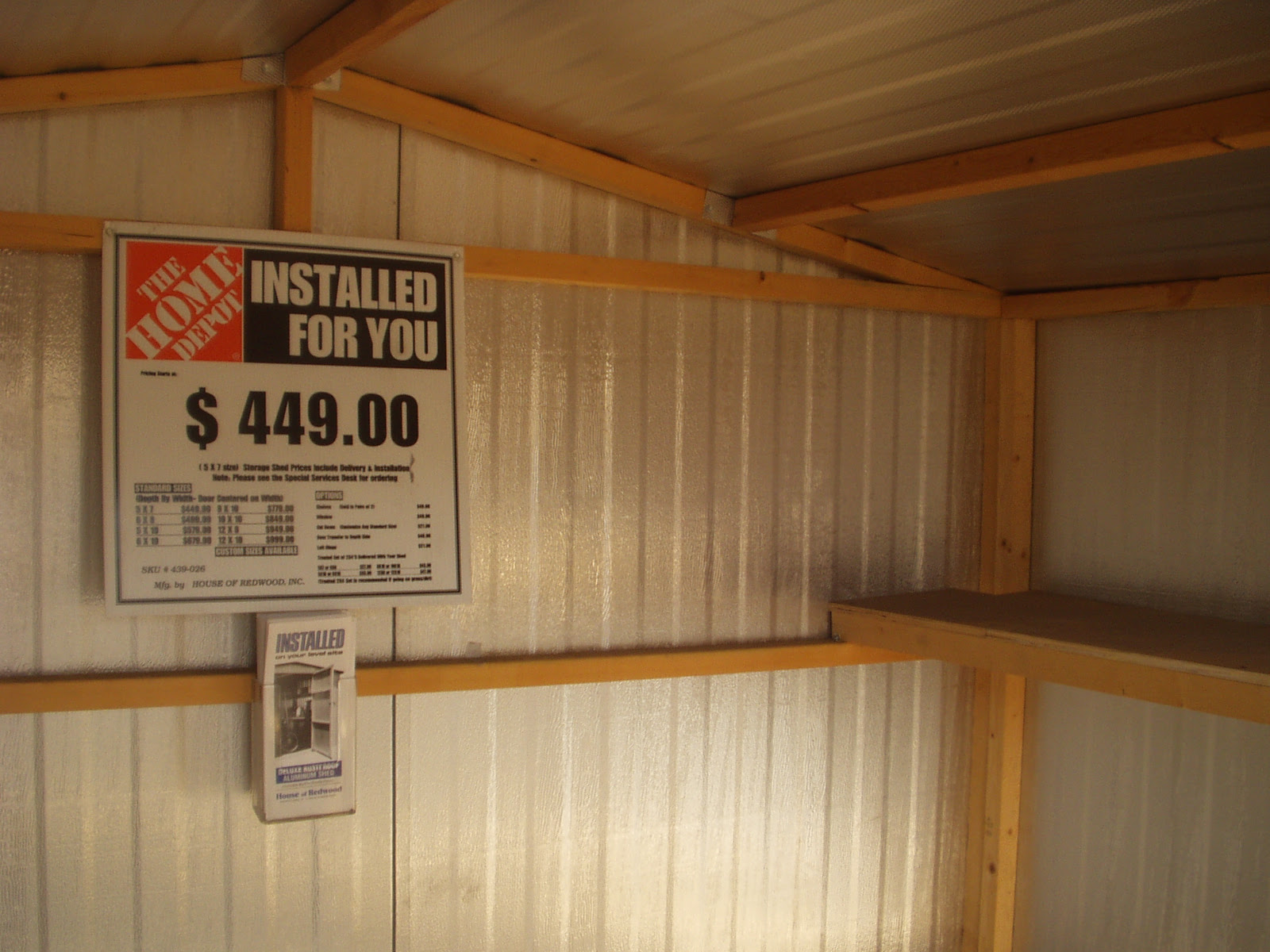 Sheds at Home Depot Feb 2007