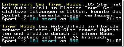 Tiger Woods mal 2