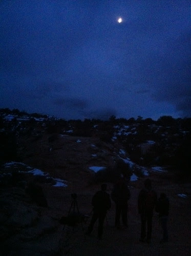 Mesa Arch - Waiting for sunrise