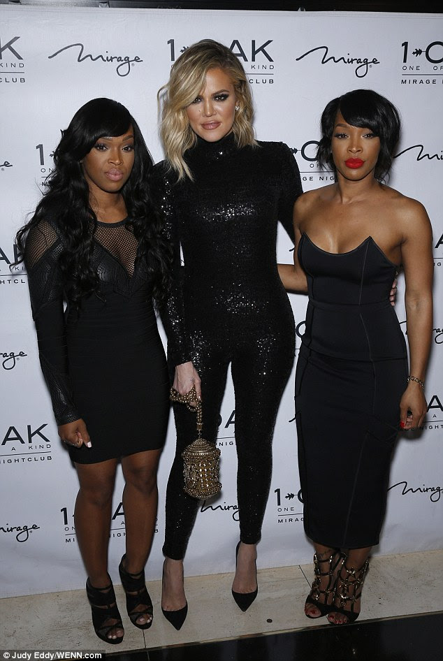 Party time! The reality star was at the club to celebrate the 33rd birthday of her twin pals