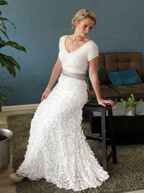 Soft Modest Wedding Dress