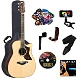 Yamaha A3R Acoustic-Electric Guitar with Yamaha Hard Case and Legacy Kit (Tuner, Picks, DVD and More)