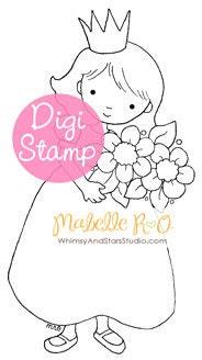 Instant Download Digi Stamp: Little Princess