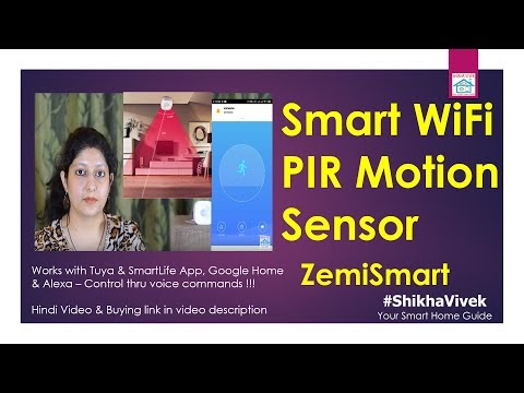 Smart WiFi PIR Motion Sensor | ZemiSmart