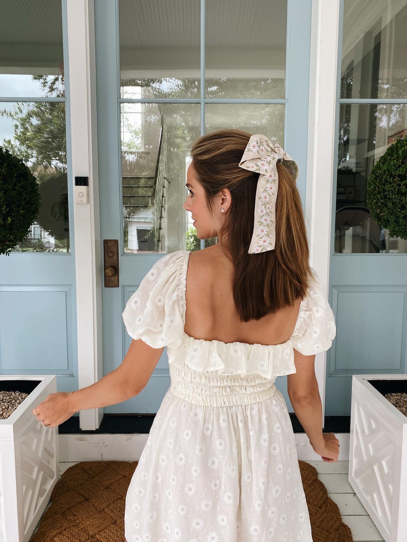 floral bow hair accessory