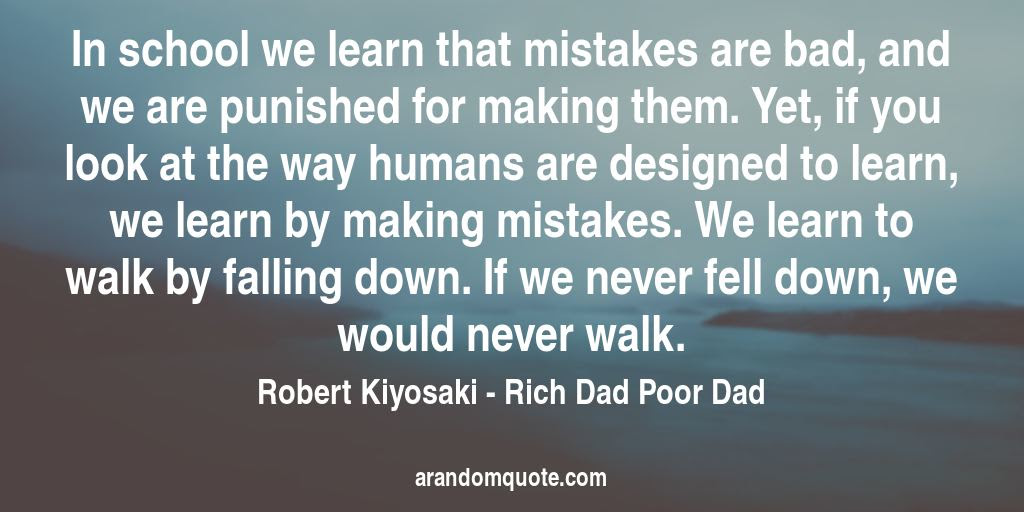 Best Image Quotes From Rich Dad Poor Dad Book A Random Quote