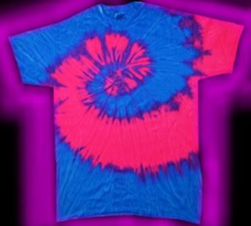 Two Color Fluorescent Neon Tie Dye T Shirt