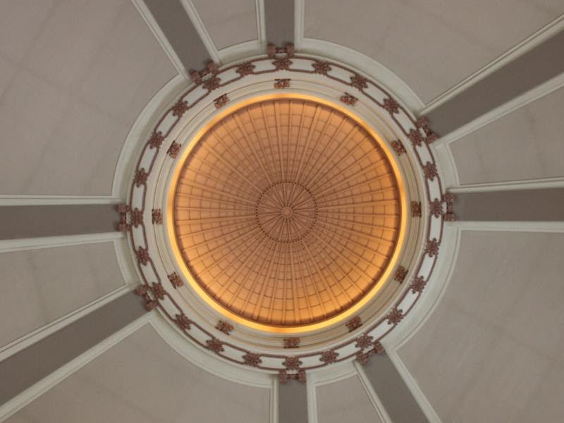 Inside the dome of the Winnipeg Union Station