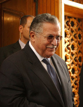 Jalal Talabani is the current leader of the PU...