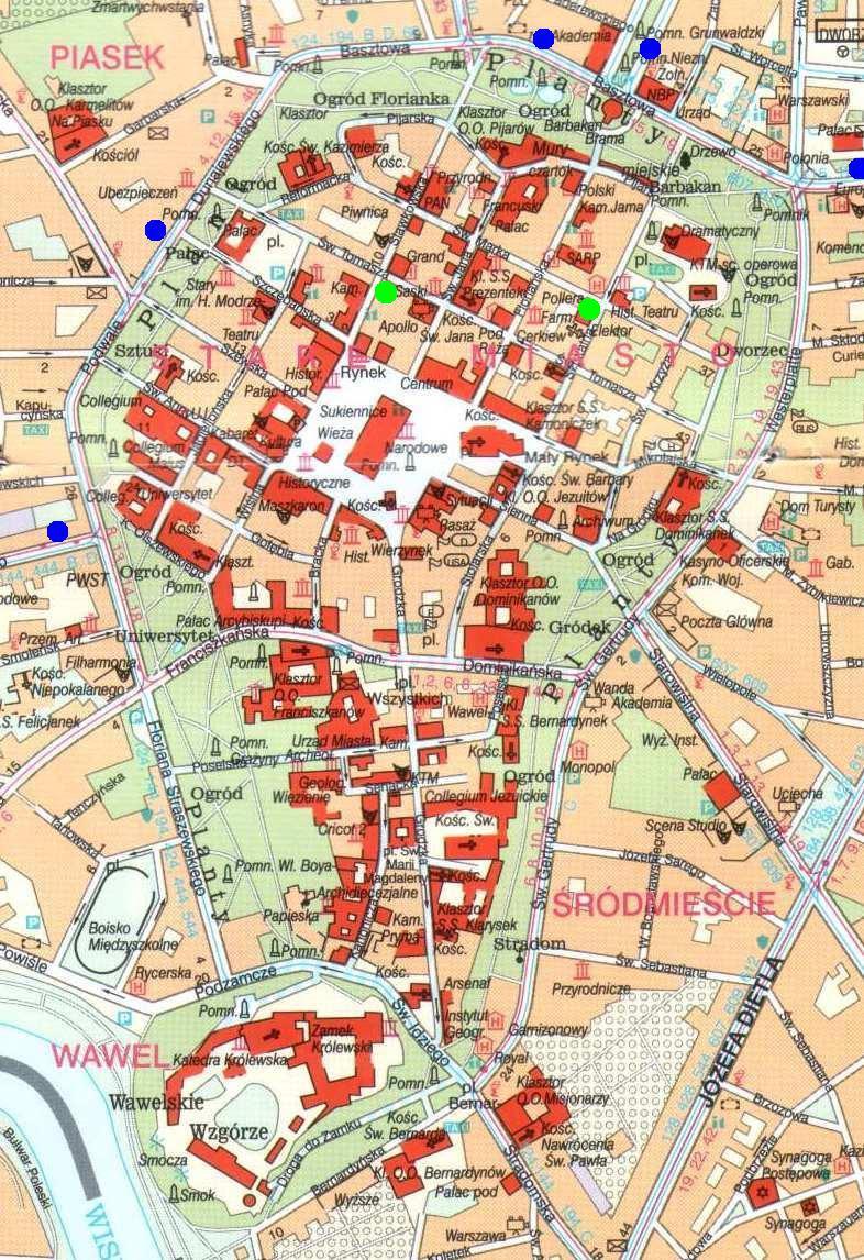 Resultado de imagen de Krakow map