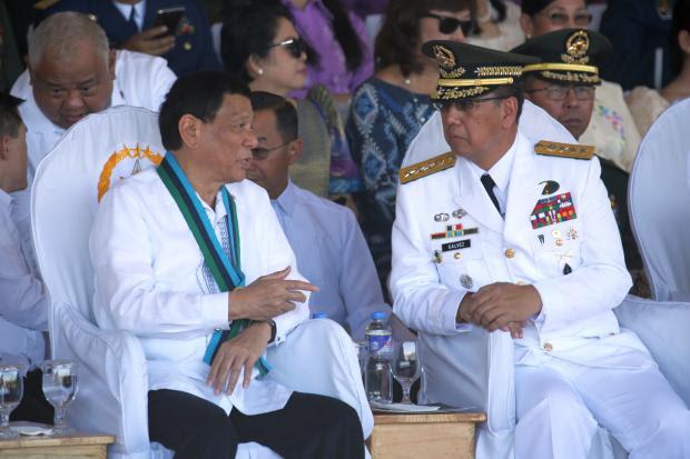 Rodrigo Duterte with Carlito Galvez Jr. - 18 April 2018