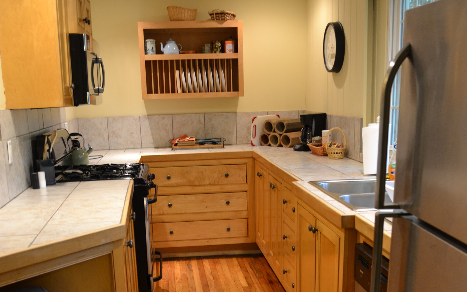 Kitchen Franklin Street house custom maple cabinets - RED ...