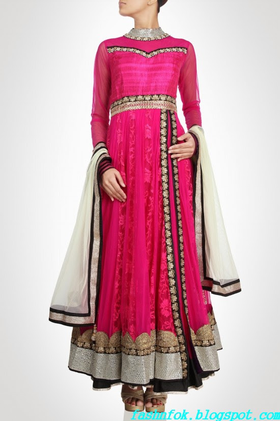Anarkali-Gorgeous-Bridal- Wedding-Ankle-Length-Dress-by-Designer-Kiran-&-Shruti-Aksh-5