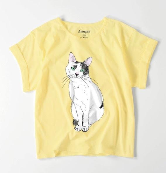 てん おすわり オーバーサイズtシャツ 猫 イラスト ゆったり ゆるかわ
