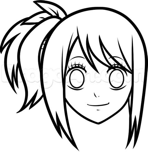 draw lucy easy step  step anime characters
