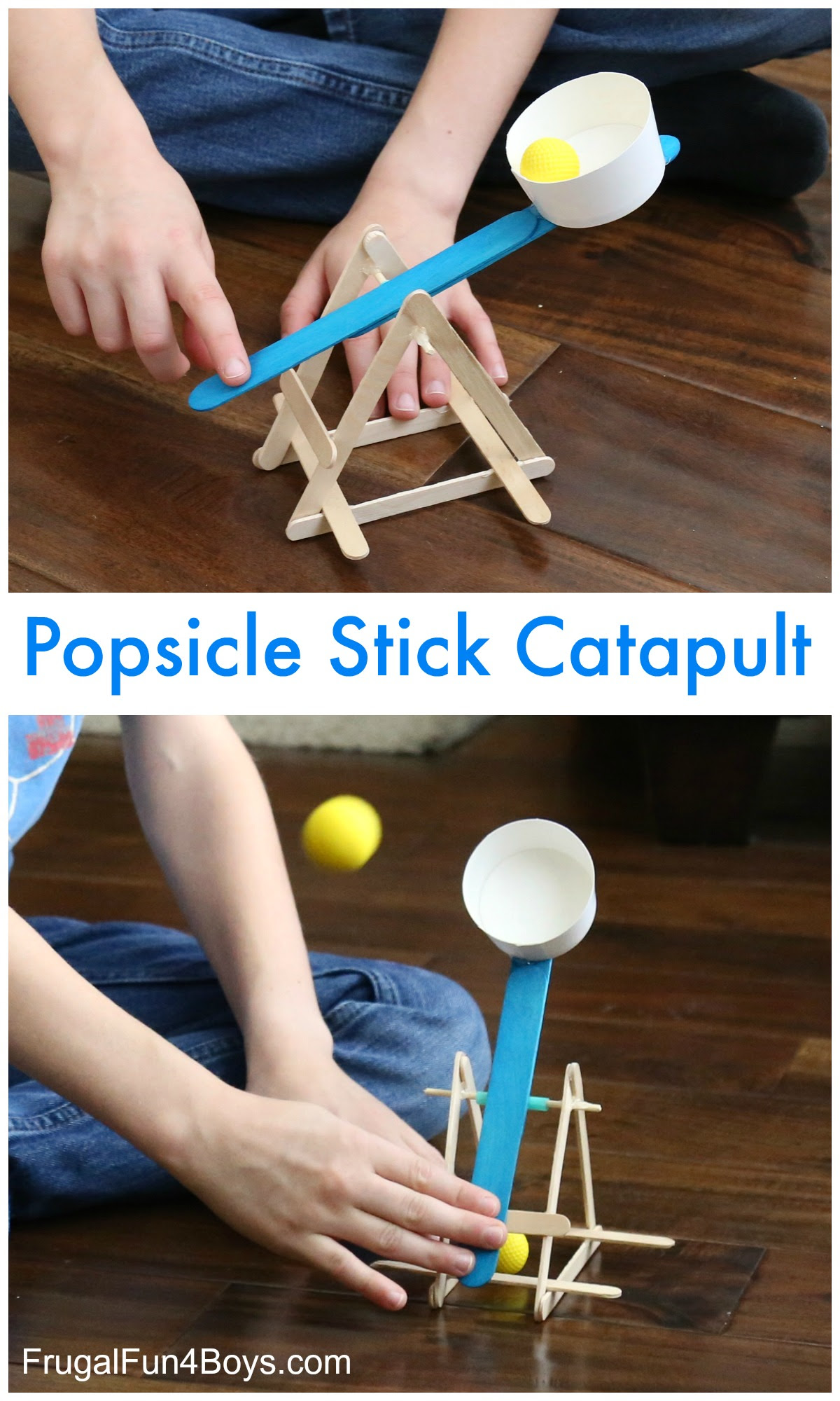 Build A Powerful Popsicle Stick Catapult Frugal Fun For Boys And Girls