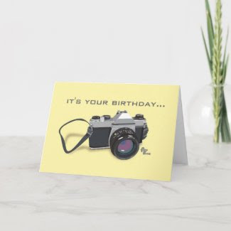 Camera Birthday Card