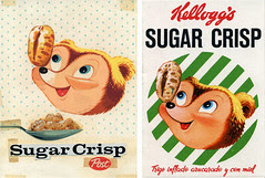 Sugar Crisp art & Kellogg's box