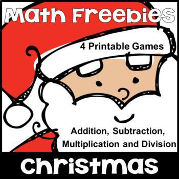 Navidad Matemáticas Freebie