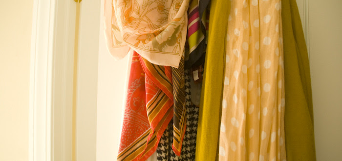 scarf collection, spring scarves, patterns, hooks, colorful, dash dot dotty, outfit blog, friday five