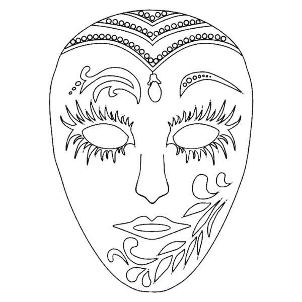 Disegno Di Maschera Di Carnevale Da Colorare Per Bambini