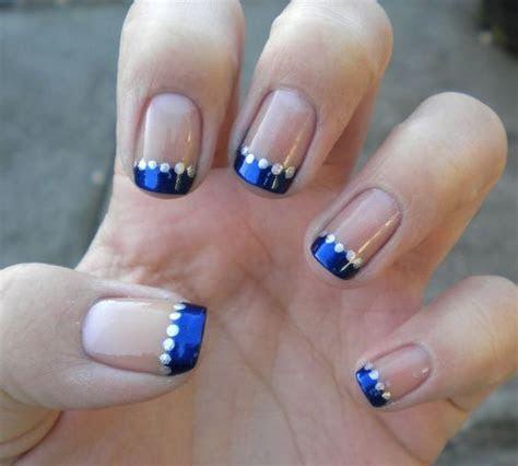 Stunning Wedding Nail Art in Blue & Silver!
