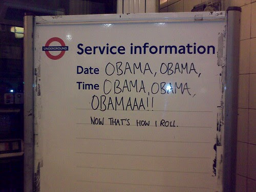 Obama is a hit on the London Underground by Andrew Grill