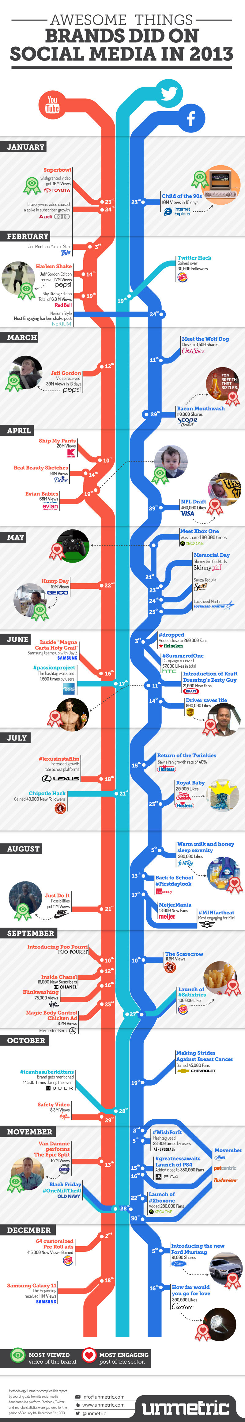 Social Media Events That Went Viral In 2013 - infographic