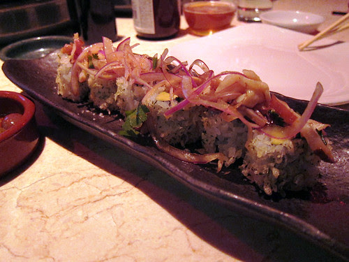 octopus ceviche roll