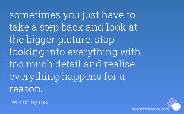 Quotes About Seeing The Bigger Picture 23 Quotes