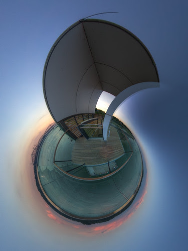 From up in the tower - Promenade Champlain - Stereographic in Quebec City