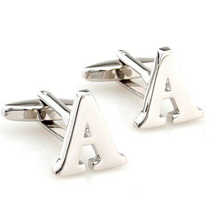 Initial Cufflinks (Alphabet Letter) by Men's Collections (A)