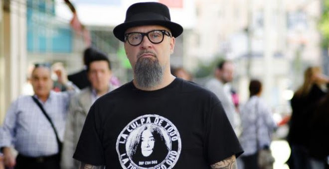 César Strawberry, cantante del grupo de rap metal Def con Dos. EFE