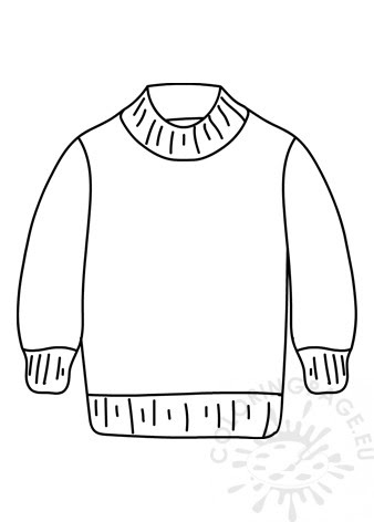 Download Wool Sweater Clothes - Coloring Page